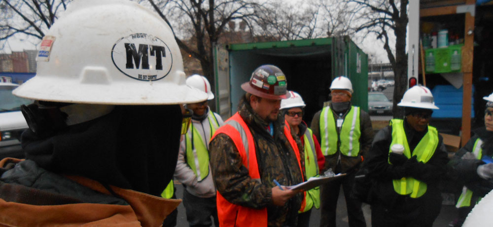 Safety Meeting at Disaster Response